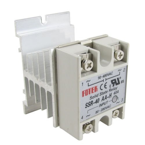 Silent Solid state contactor with heat sink.